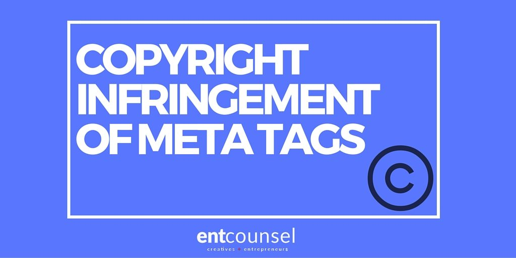 Copyright Infringement of Meta Tags