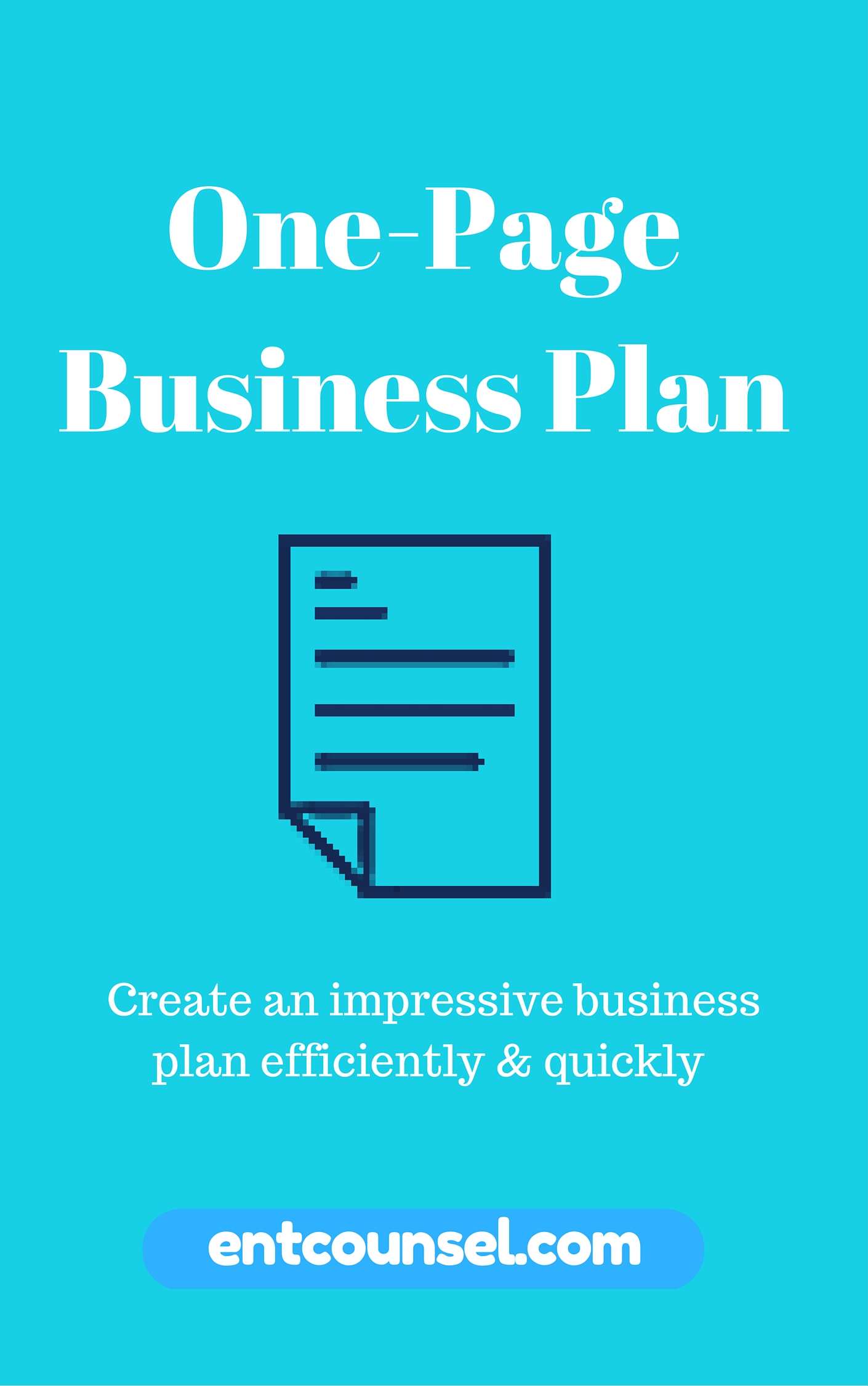 One page business plan one page business plan template ultimate guide to create your own business plan in minutes wajeb Images