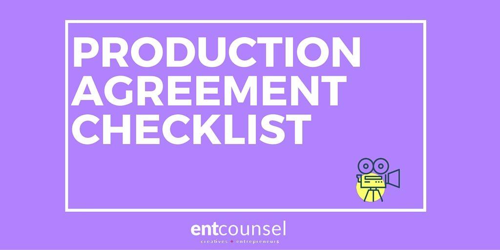 Film Production Agreement Checklist