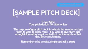 10 Slide PItch Deck