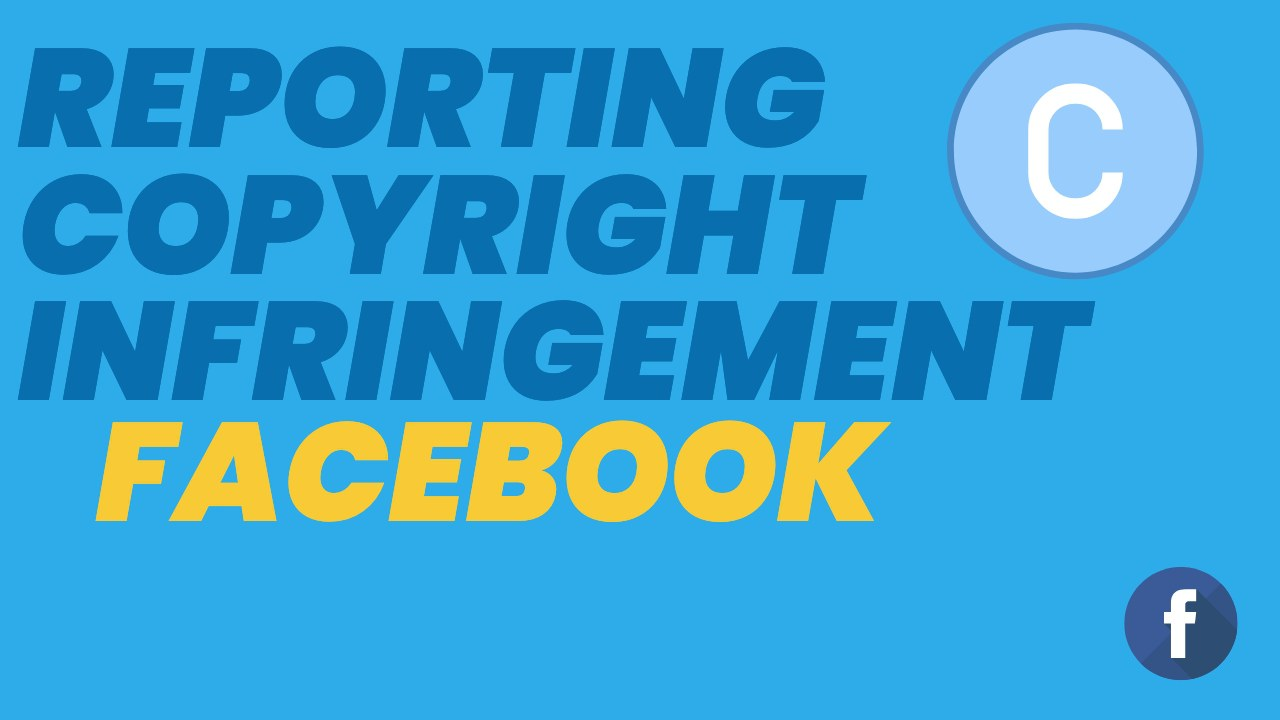 Reporting Copyright Infringement to Facebook In this video, we are going to show you how to report a copyright infringement to Facebook. In order to report a copyright infringement on Facebook, first go to facebook.com/help to take you to the Facebook help centre.