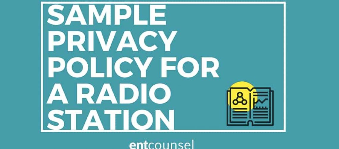 SAMPLE PRIVACY POLICY FOR RADIO STATION